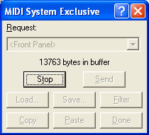 Winjammer Sysex Interface Buffer Waiting For Stop