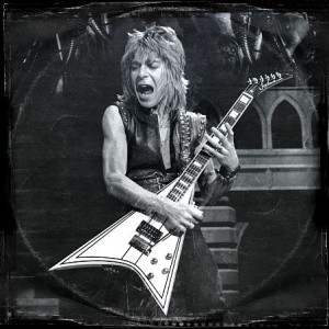 Randy Rhoads with Jackson prototype guitar.