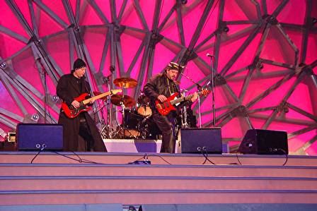 In Stereo playing at the 2002 Winter Olympics Medals Plaza