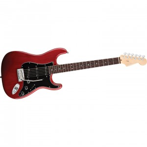 Fender American Deluxe Ash Strat Wine Transparent