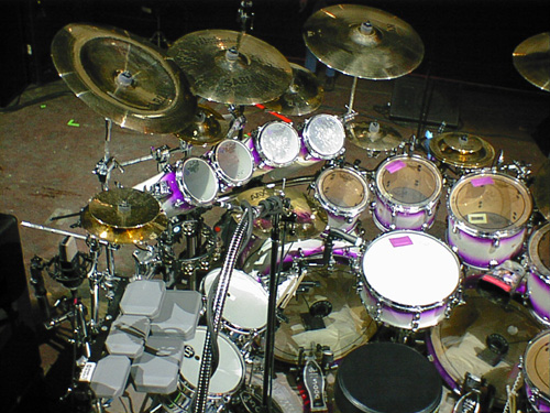 Mike Portnoy's Purple Drumset