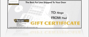 Gift Certificate For Musicians