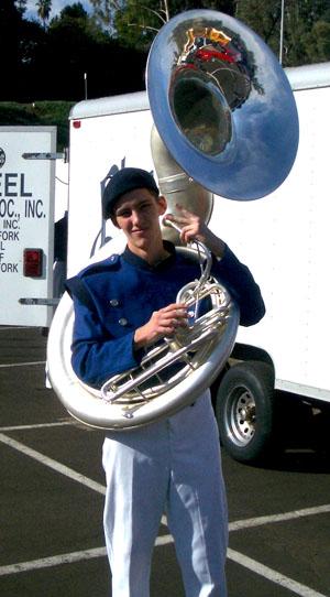 Silver Tuba Player