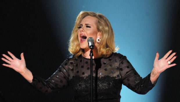 Adele Performing at the 2012 Grammy Awards