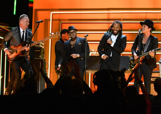 Sting, Bruno Mars and Ziggy Marley perform live